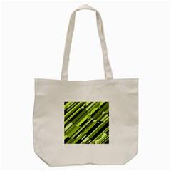 Green pattern Tote Bag (Cream) by Valentinaart
