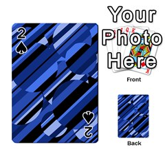 Blue Pattern Playing Cards 54 Designs  by Valentinaart
