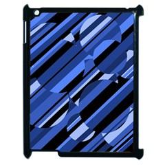 Blue Pattern Apple Ipad 2 Case (black) by Valentinaart