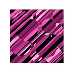 Magenta Pattern Small Satin Scarf (square) by Valentinaart