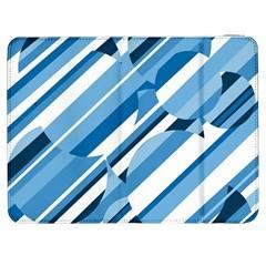 Blue Pattern Samsung Galaxy Tab 7  P1000 Flip Case by Valentinaart