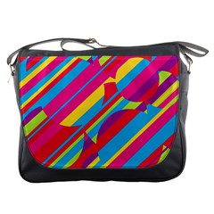 Colorful Summer Pattern Messenger Bags by Valentinaart