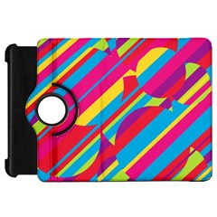 Colorful Summer Pattern Kindle Fire Hd Flip 360 Case by Valentinaart