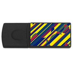 Colorful pattern USB Flash Drive Rectangular (2 GB)  by Valentinaart