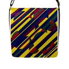 Colorful Pattern Flap Messenger Bag (l)  by Valentinaart