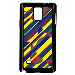 Colorful pattern Samsung Galaxy Note 4 Case (Black) by Valentinaart