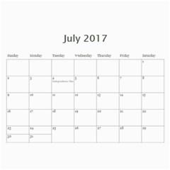 Sm Calendar By Megan Meier   Wall Calendar 11  X 8 5  (18 Months)   Ikxl6ywxheyc   Www Artscow Com Jul 2017