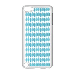 Blue Watercolour Leaf Pattern Apple Ipod Touch 5 Case (white) by TanyaDraws