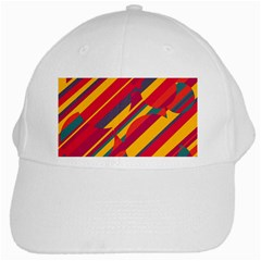 Colorful Hot Pattern White Cap by Valentinaart