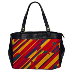 Colorful Hot Pattern Office Handbags by Valentinaart