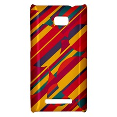 Colorful hot pattern HTC 8X by Valentinaart