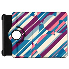 Blue And Pink Pattern Kindle Fire Hd Flip 360 Case by Valentinaart