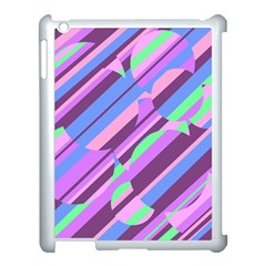 Pink, Purple And Green Pattern Apple Ipad 3/4 Case (white) by Valentinaart