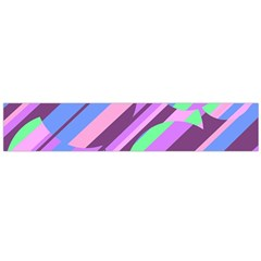 Pink, purple and green pattern Flano Scarf (Large)