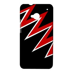 Black and red simple design HTC One M7 Hardshell Case