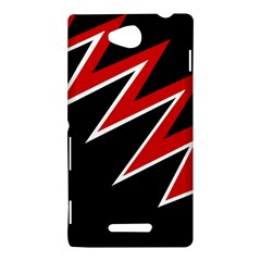 Black and red simple design Sony Xperia C (S39H) by Valentinaart