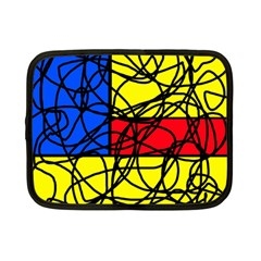 Yellow Abstract Pattern Netbook Case (small)  by Valentinaart