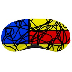 Yellow Abstract Pattern Sleeping Masks by Valentinaart