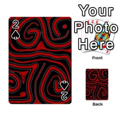 Red And Black Abstraction Playing Cards 54 Designs  by Valentinaart