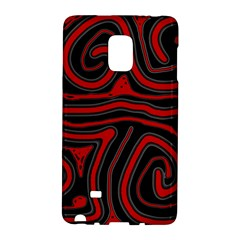 Red and black abstraction Galaxy Note Edge by Valentinaart