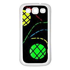 Colorful Design Samsung Galaxy S3 Back Case (white) by Valentinaart