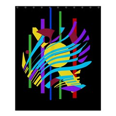 Colorful abstract art Shower Curtain 60  x 72  (Medium)  by Valentinaart