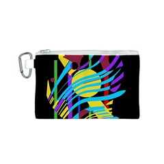 Colorful Abstract Art Canvas Cosmetic Bag (s) by Valentinaart