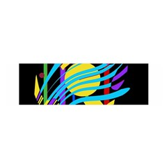 Colorful abstract art Satin Scarf (Oblong)