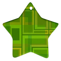 Green pattern Star Ornament (Two Sides)  by Valentinaart