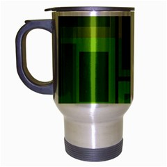 Green pattern Travel Mug (Silver Gray) by Valentinaart