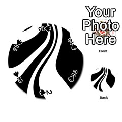 Black And White Pattern Playing Cards 54 (round)  by Valentinaart