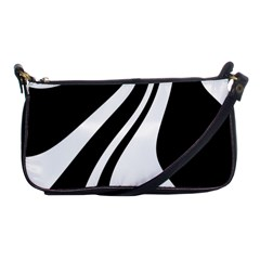 Black And White Pattern Shoulder Clutch Bags by Valentinaart