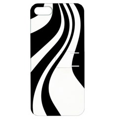 Black And White Pattern Apple Iphone 5 Hardshell Case With Stand by Valentinaart