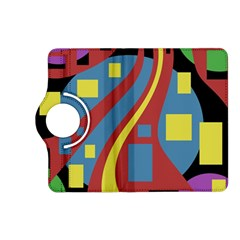 Colorful Abstrac Art Kindle Fire Hd (2013) Flip 360 Case by Valentinaart