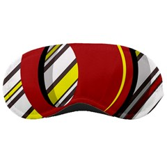 Red And Yellow Design Sleeping Masks by Valentinaart