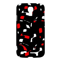 Red, black and white pattern Samsung Galaxy S4 I9500/I9505 Hardshell Case