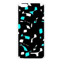 Blue, black and white pattern Apple Seamless iPhone 6 Plus/6S Plus Case (Transparent) by Valentinaart