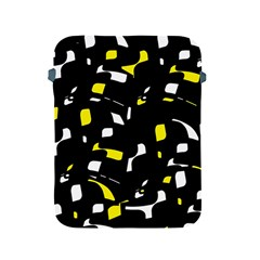 Yellow, Black And White Pattern Apple Ipad 2/3/4 Protective Soft Cases by Valentinaart