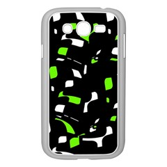 Green, black and white pattern Samsung Galaxy Grand DUOS I9082 Case (White)