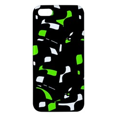 Green, Black And White Pattern Iphone 5s/ Se Premium Hardshell Case by Valentinaart