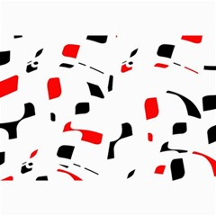 White, Red And Black Pattern Collage Prints by Valentinaart