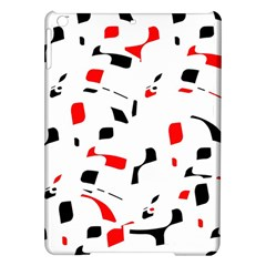 White, Red And Black Pattern Ipad Air Hardshell Cases by Valentinaart