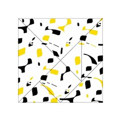 Yellow, Black And White Pattern Acrylic Tangram Puzzle (4  X 4 ) by Valentinaart