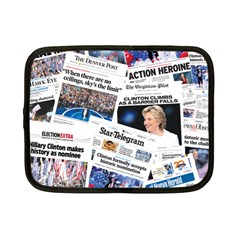Hillary 2016 Historic Newspaper Collage Netbook Case (small)  by blueamerica