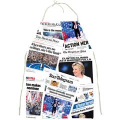 Hillary 2016 Historic Newspaper Collage Full Print Aprons by blueamerica