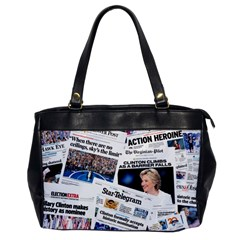 Hillary 2016 Historic Newspaper Collage Office Handbags by blueamerica
