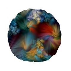 More Evidence Of Angels Standard 15  Premium Flano Round Cushions by WolfepawFractals