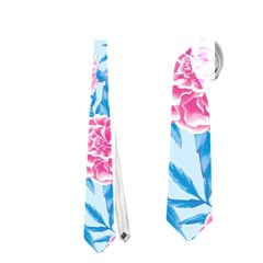 Blue & Pink Floral Neckties (one Side)  by TanyaDraws