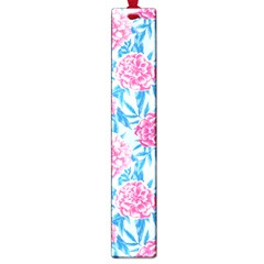 Blue & Pink Floral Large Book Marks by TanyaDraws