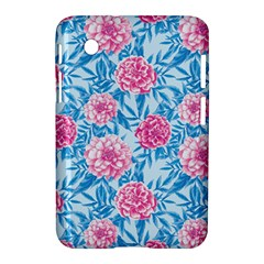 Blue & Pink Floral Samsung Galaxy Tab 2 (7 ) P3100 Hardshell Case  by TanyaDraws